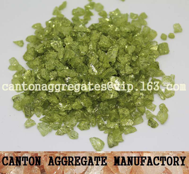Hot Item Coated Color Crushed Glass Chips For Terrazzo And Resin Flooring