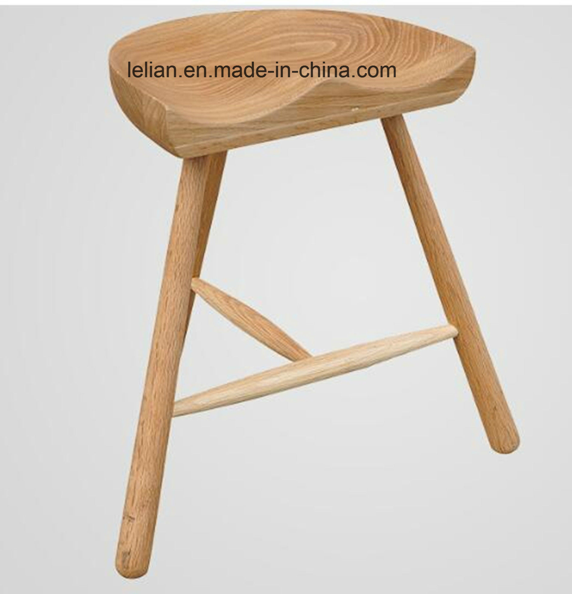 Commercial Oak Wood Bar Stool for Bar Furniture (LL-BC060)