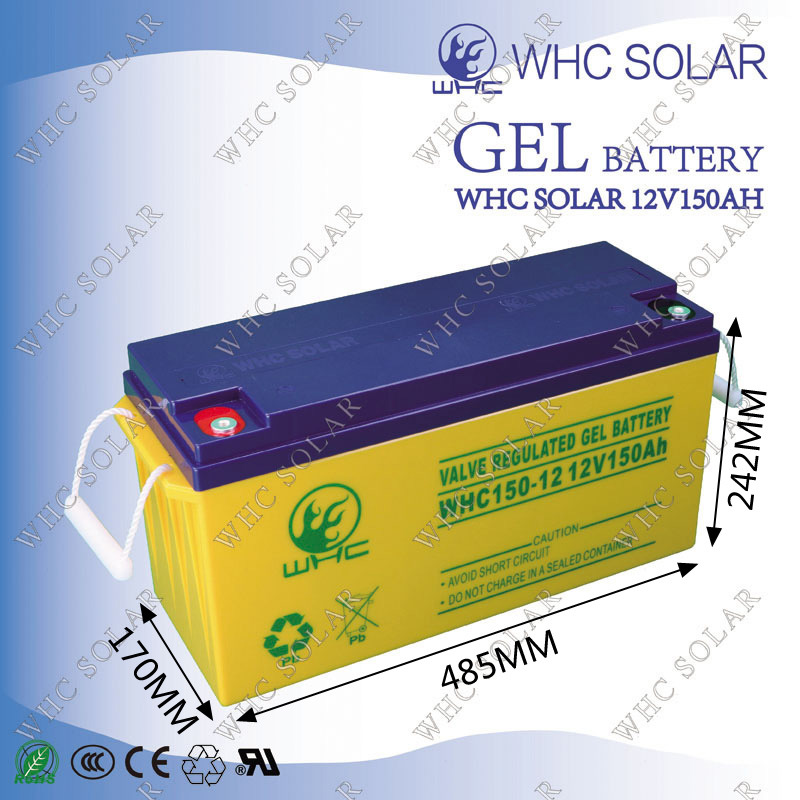 12V 150ah Solar Gel Battery for Solar Power System