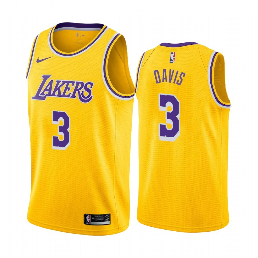 China Men Lakers Jerseys 3 Anthony Davis Basketball Jerseys ...