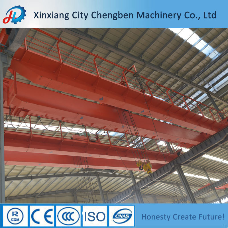 Electric Mode Construction Bridge Crane Feature 40t/10t Double Hook Overhead Crane for Sale pictures & photos
