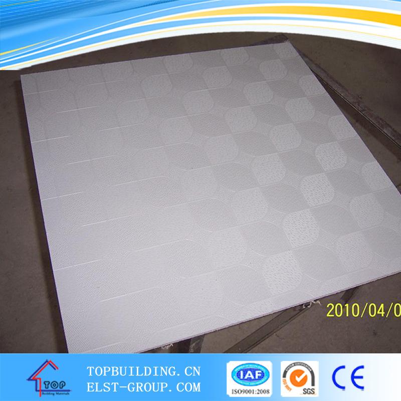 China Pvc Embossed Gypsum Ceiling Tile