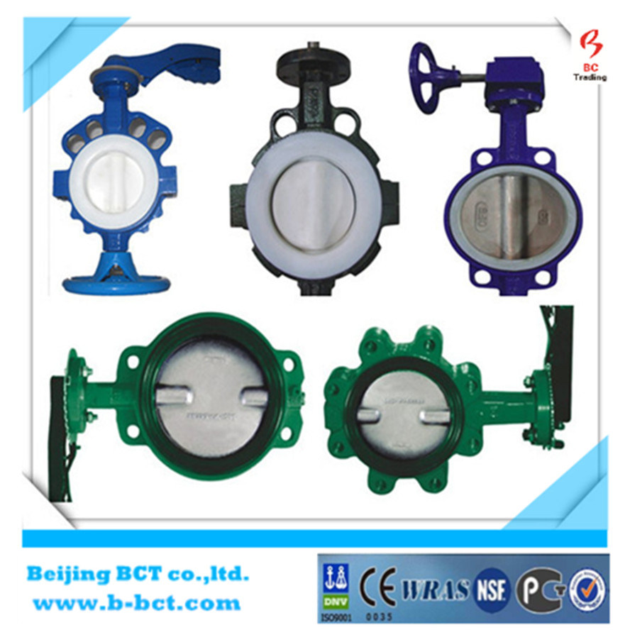 Alloy Aluminum Wafer Butterfly Valve with Handle JIS Standard pictures & photos