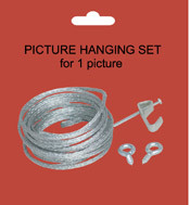 Packaged Picture Hanger Kit with Wire (1802)