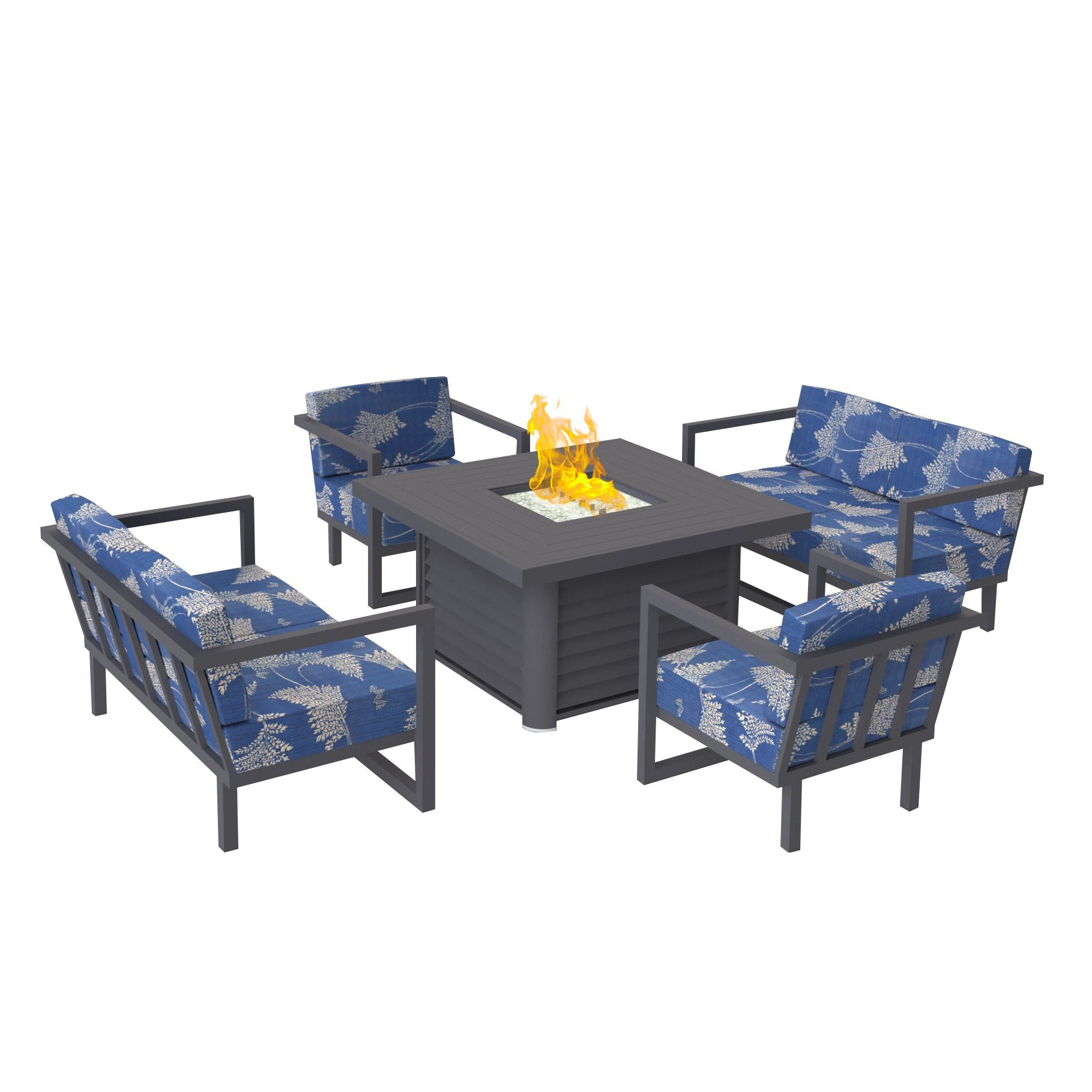China Removable Patio Fire Pit Table