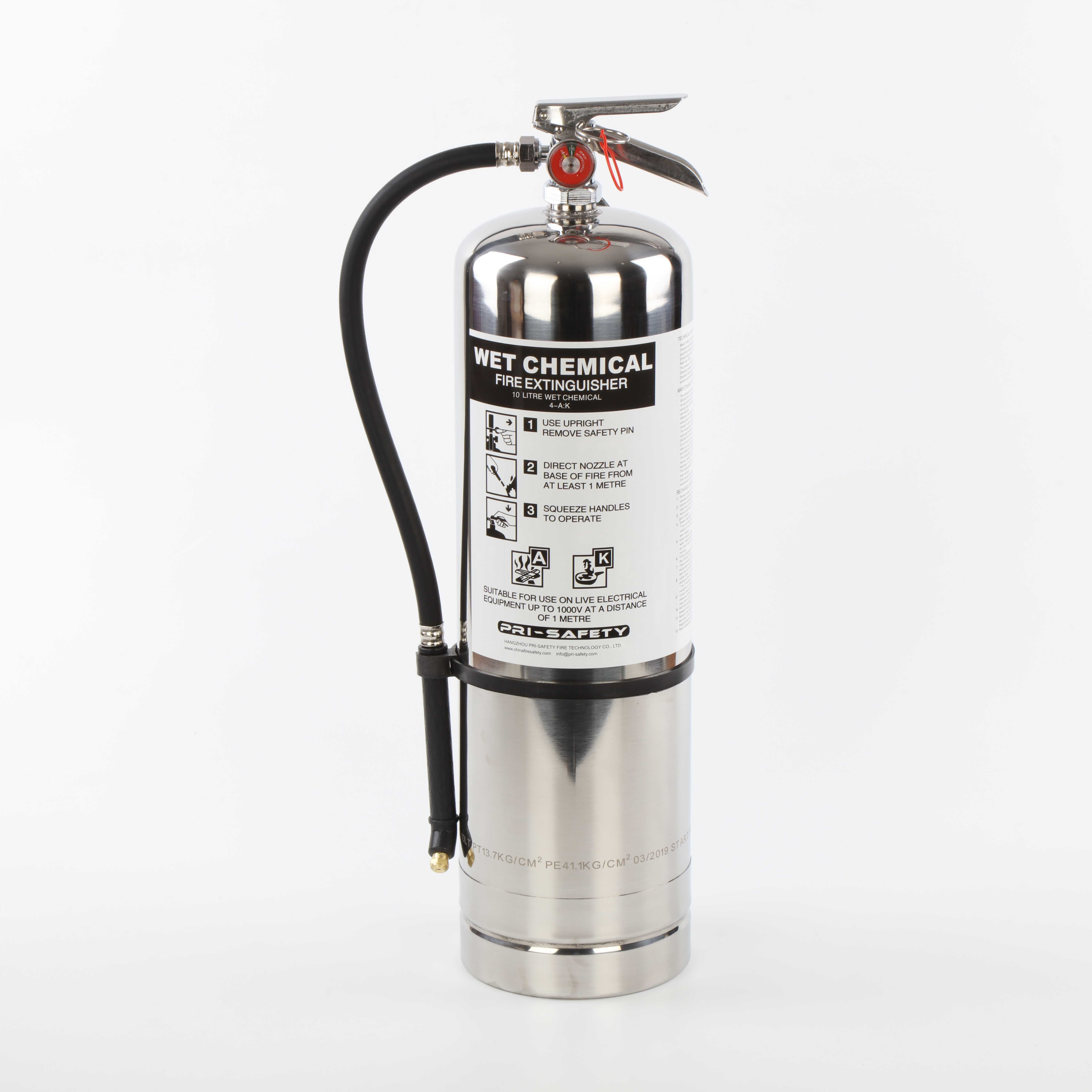 China 2 5gallons Class K American Wet Chemical Kitchen Fire Extinguishers China Wet Chemical Extinguishers Class K Extinguishers
