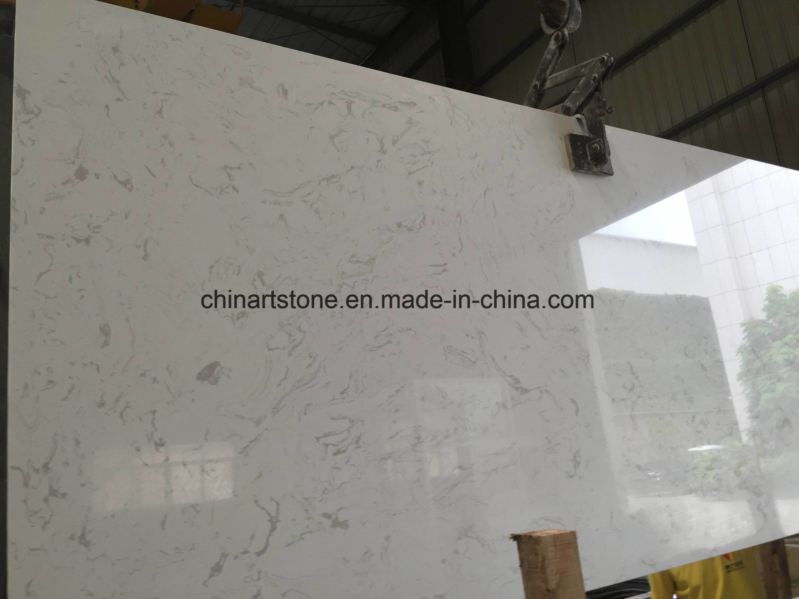 China Wholesale China White Artificial Marble Slab For Tiles And - Fake marble slab