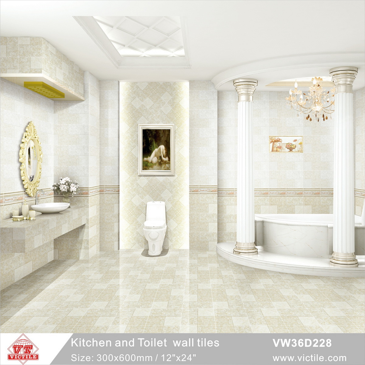 China Building Material 300600 Ceramic Wall Tiles For Kitchen And
