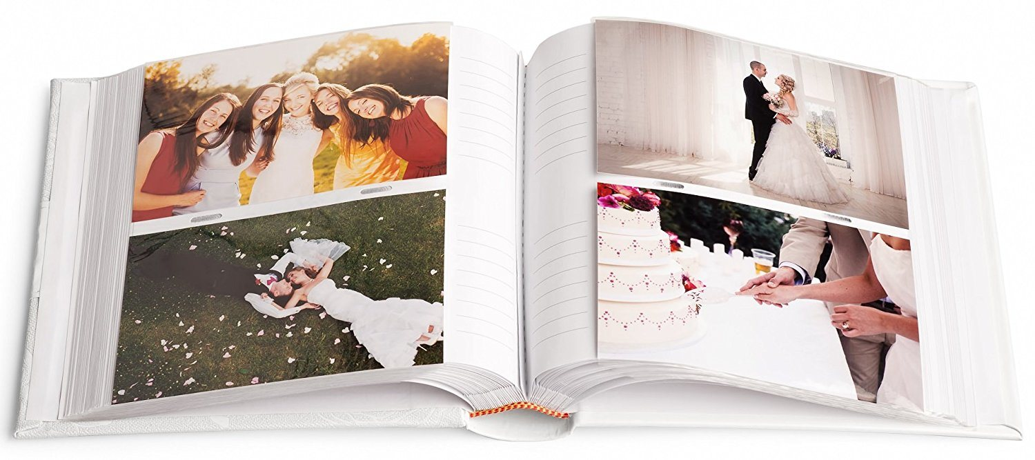 China Wedding Sewn Bonded Pu Customized Photo Album Holds 300 5x7