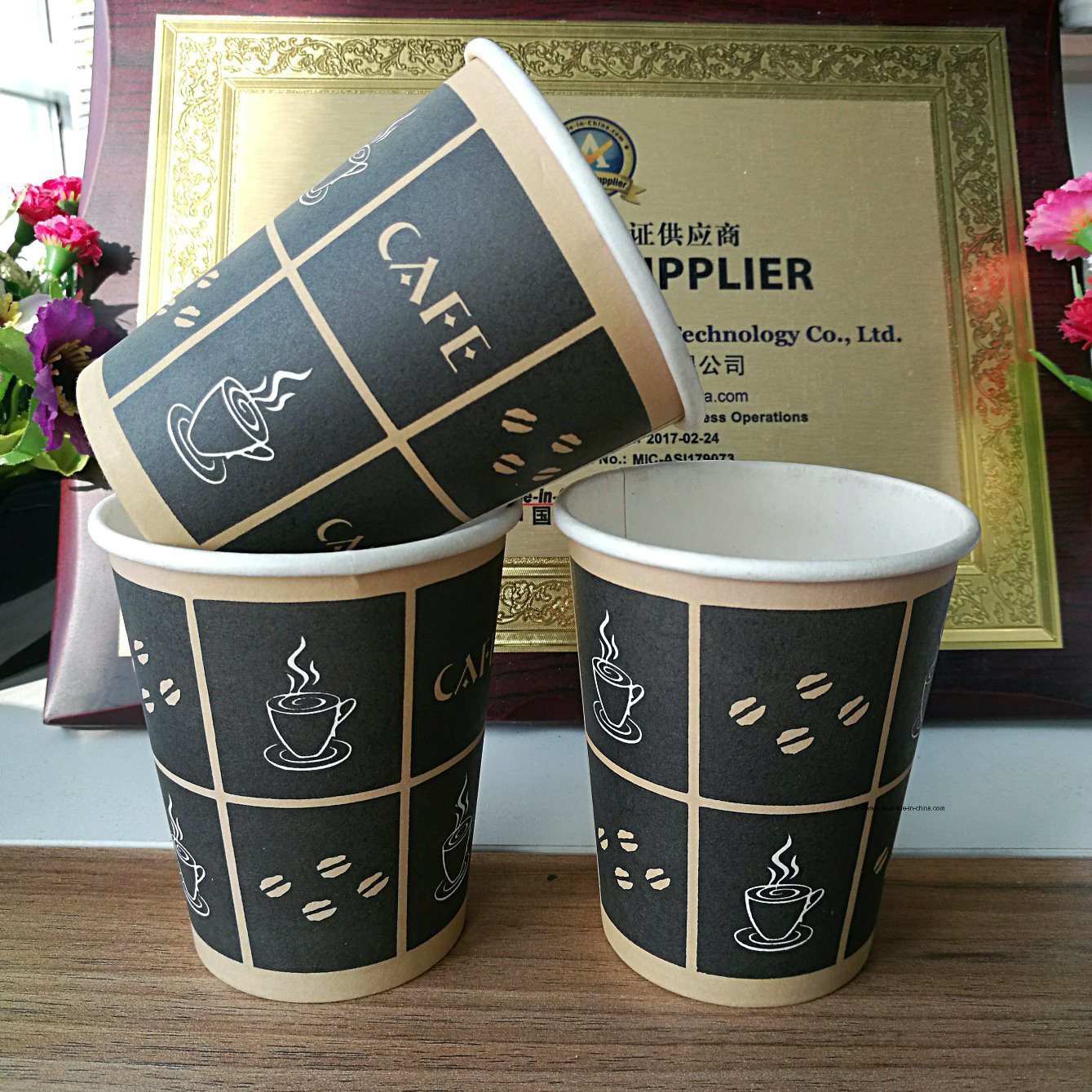 [Hot Item] Hot Selling New Design Disposable Coffee Paper Cup Factory  Custom Logo Printed