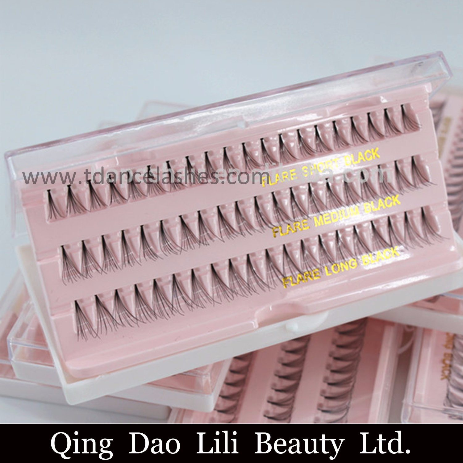 China Korean Individual Flare False Eyelashes 60 Strands Soft Black