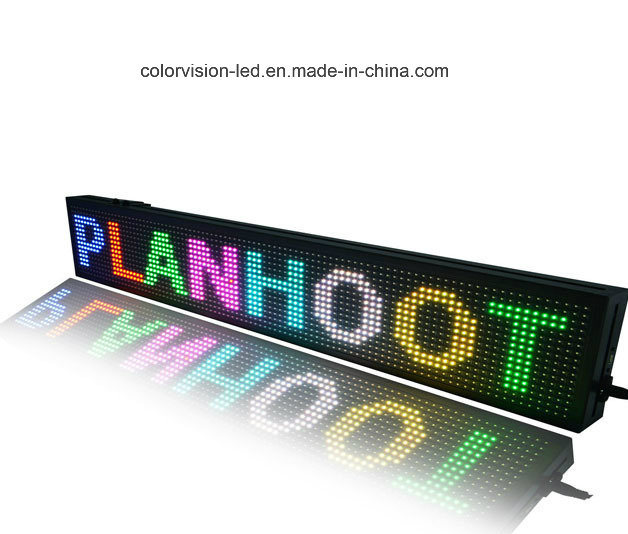 [Hot Item] High Quality Display Board Material P10 Indoor Outdoor 7 Color  Programmable LED Sign