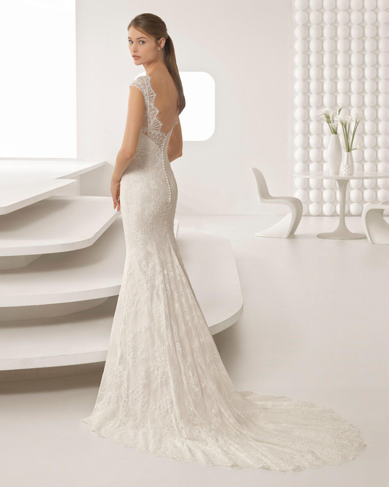 China Hot Seller Applique Lace Shoulder Beading Wedding Dress ...