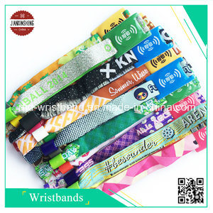 RFID Polyester Woven Wristband for Evening/Party/Festival and Gift