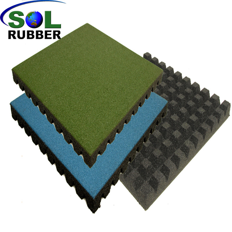 China Recycled Safe Outdoor Playground Rubber Mat Flooring Tile