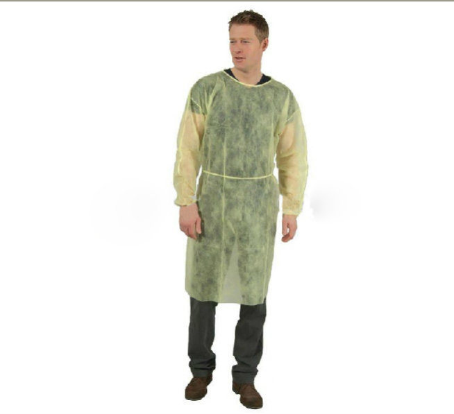 China Disposable Plastic Coated Surgical Gown/ Isolation Gown Photos ...