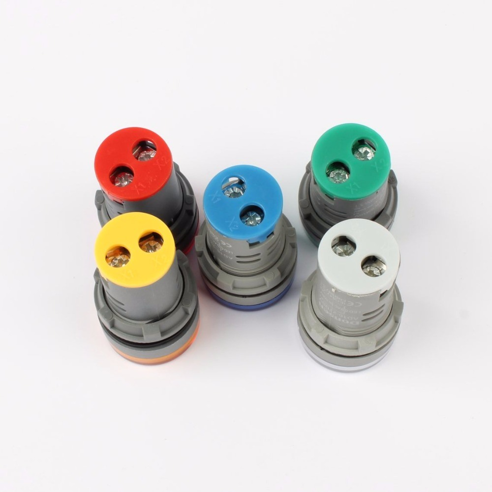 China 22mm Ac 60 500v 0 100a Led Voltmeter Voltage Meter Indicator Cr7 Green Pilot Light Red Yellow White Blue Digital Ammeter Ampermetre