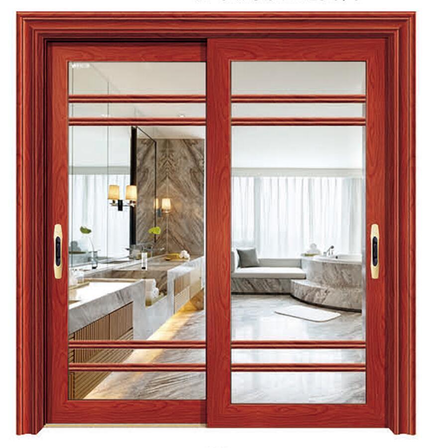 China 4 Panels Interior Aluminium Frame Sliding Door For Tv Room