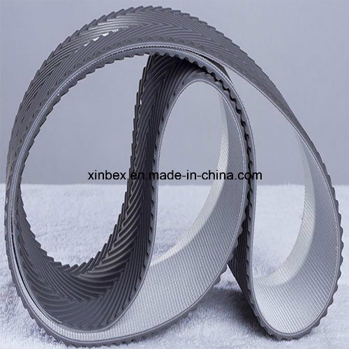 PVC Grey Fishbone Pattern Conveyor Belts for Wood Process pictures & photos