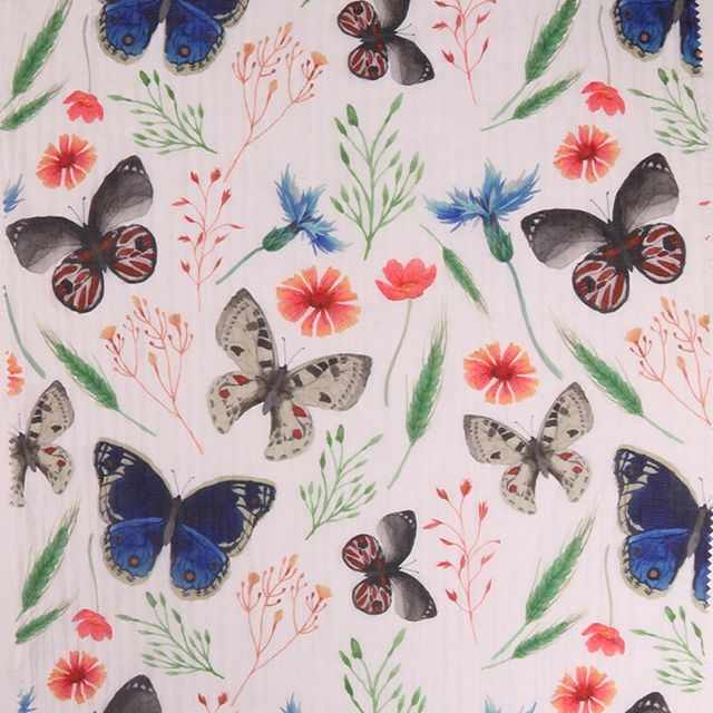 China Fashion Design Customized Patterns Floral Silk Chiffon