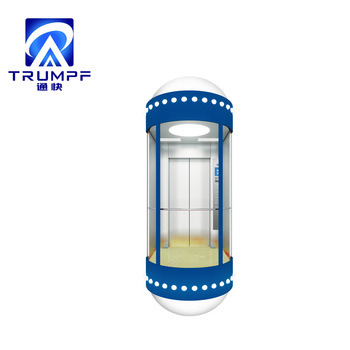 Trumpf Outdoor Cheap Observation Semicircle Glass Sightseeing Golden Home Passenger Elevator pictures & photos