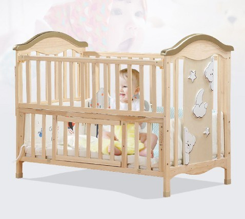 China Imported High Grade Pine Wooden Baby Bed, Fair Baby ...