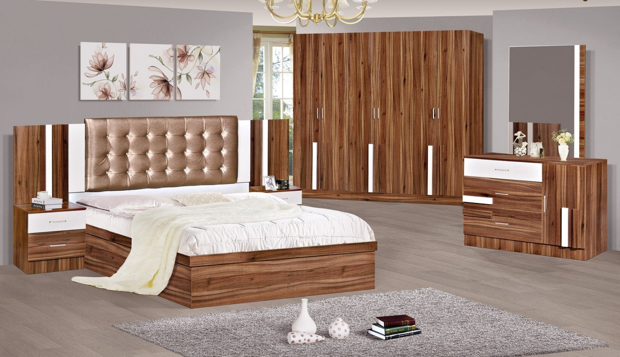 China Modern New Design Bedroom Sets Wardrobe Dressing ...