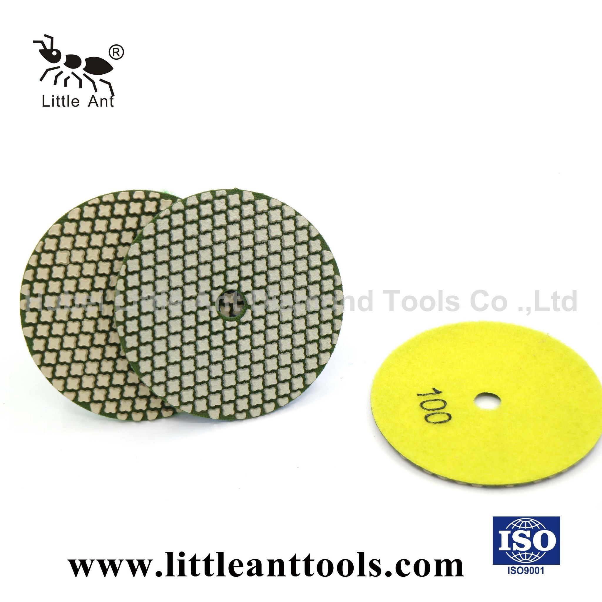"4/""Diamond dry Flexible polishing pads for quartz stone granite marble 70 PCS"
