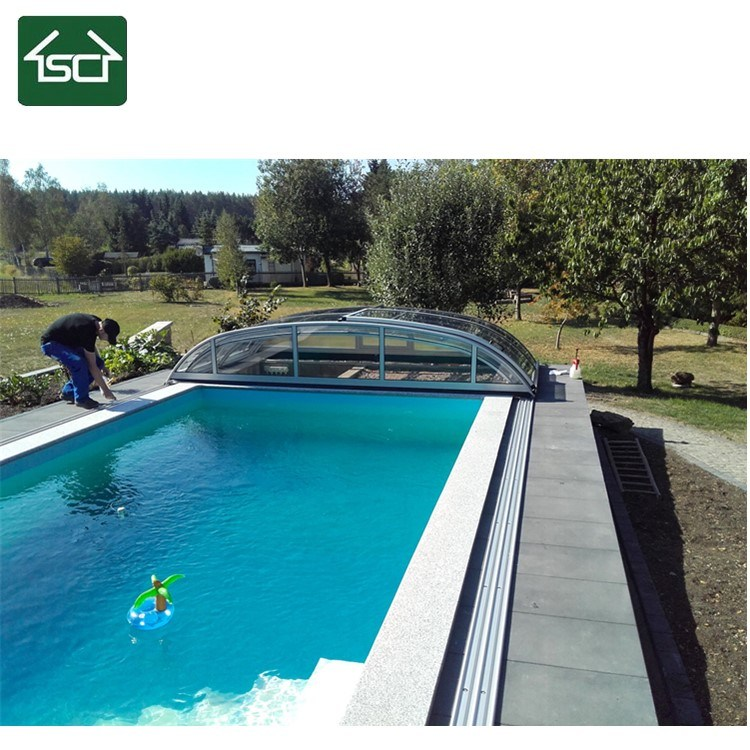 China Arched Retractable Sliding Low Height Polycarbonate ...
