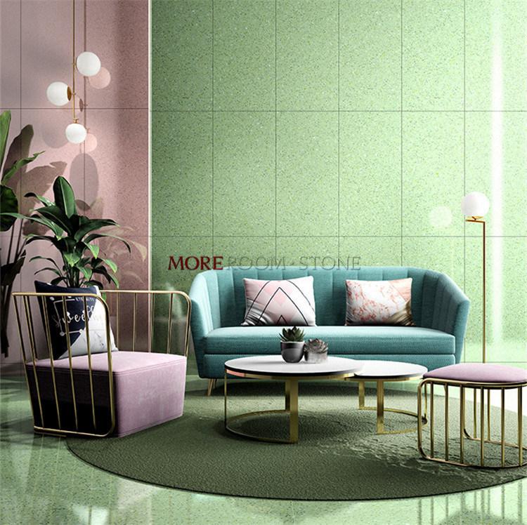 China 600x1200 Glazed Green Terrazzo