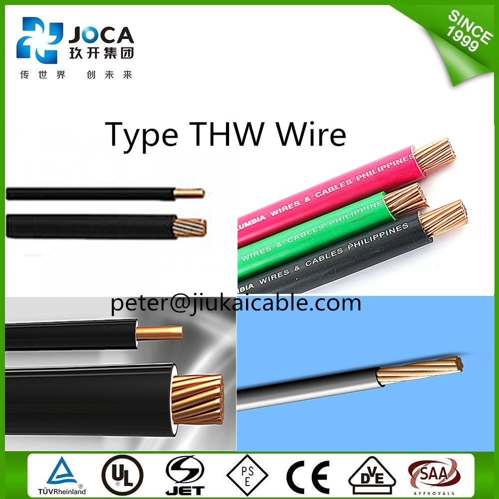 China 14 Awg Copper Pvc Insulated Solid Tw Thwn Thhn Thw Wire 600v Electrical Bare And