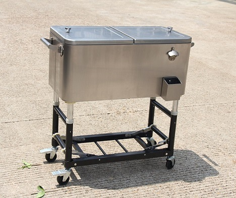80 Qt Stainless Steel Patio Cooler