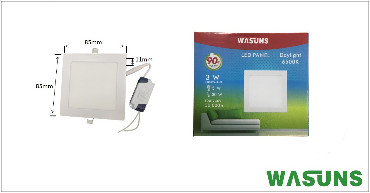 Square Shape Ultra Slim LED Lighting Panel Light pictures & photos