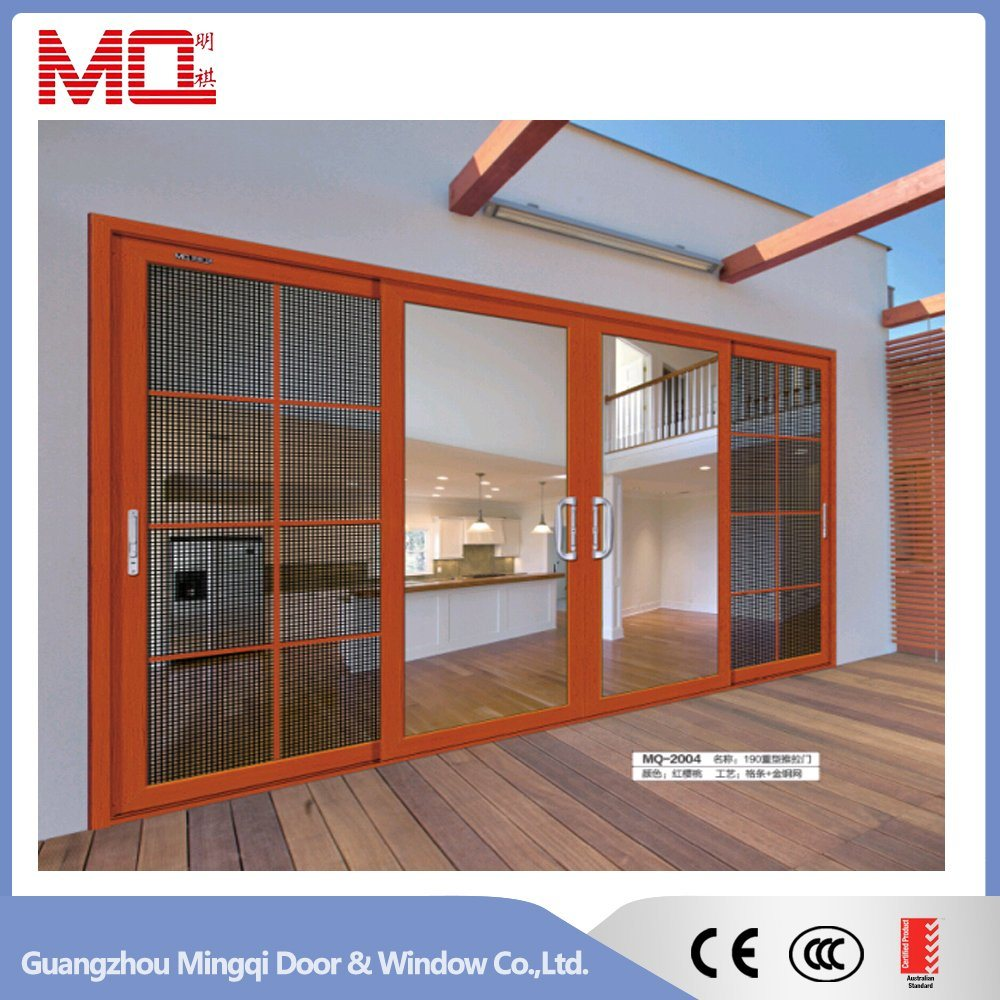 China Aluminum Sliding Door With Stainless Steel Fly Screen China