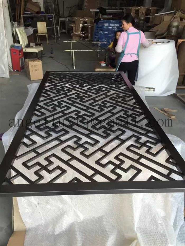China Modern Custom Design Indoor Laser Cut Metal Screen