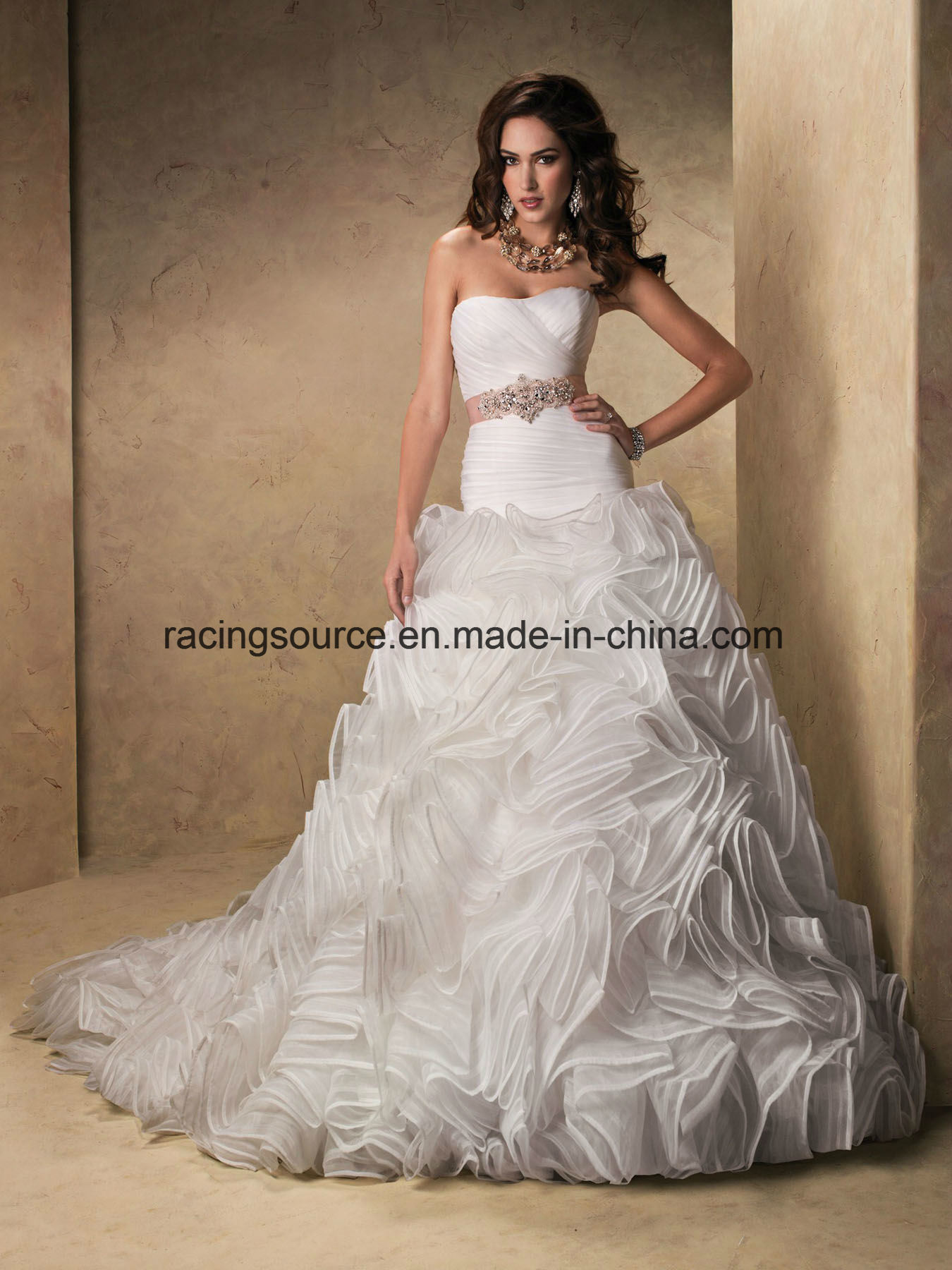 China off Shoulder Beach Bridal Gown Beaded Wedding Dresses ...