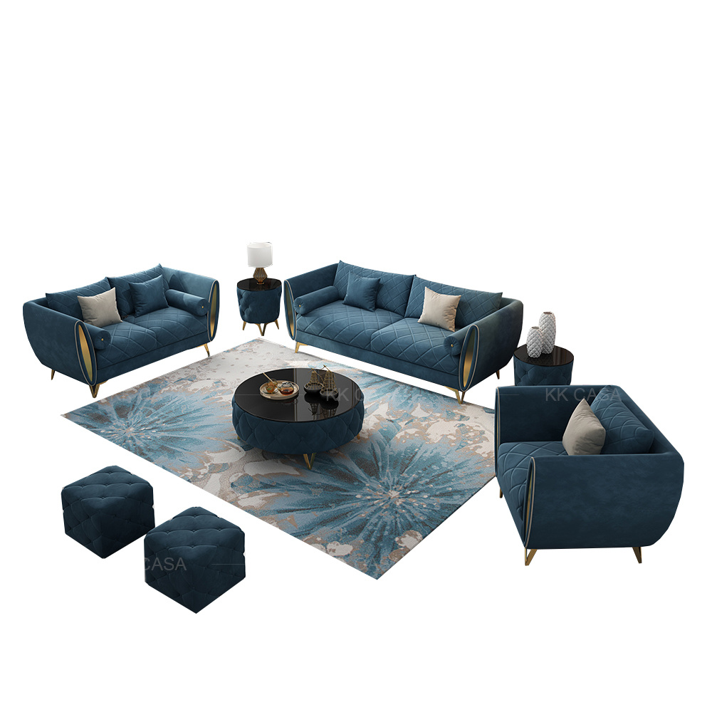 China Wholesale Cheap Price Luxury Modern Fabric Sofa Set 9