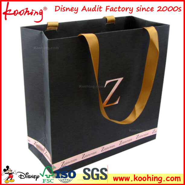 Customized Design Art Paper Handle Bags/Paper Bag for Garment Cloth