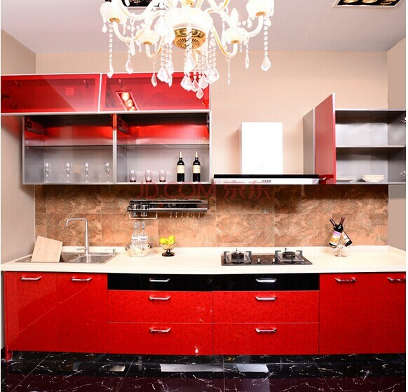 Kitchen Cabinet China: China High Gloss Red Kitchen Cabinet (manufacturer