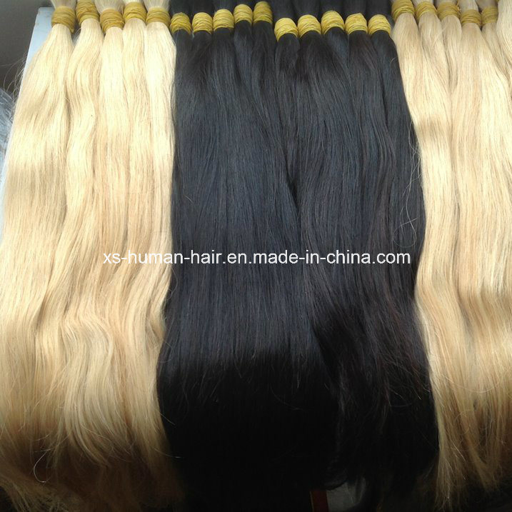 China European Remy Blonde Hair Bulk Human Hair Extensions China