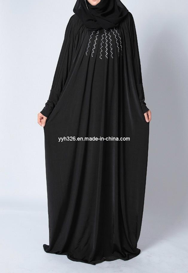 China Customized Wholesale Elegant Muslim Dress Black Designed Abaya