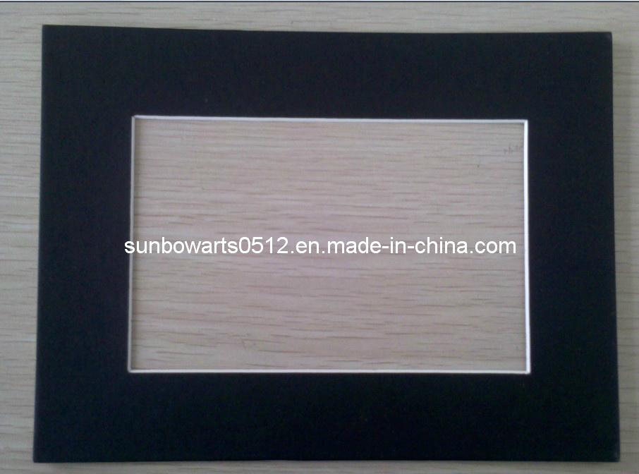 China Pre Cut Mat Board Picture Frame Photo Black Surface With White Core Matboard And Price