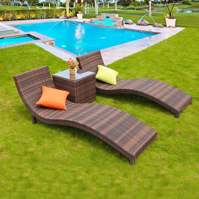 [Hot Item] Hot Sale Cheap Price Patio Swimming Pool Furniture Sun Bed Beach  Chair T508