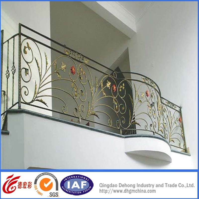 China Modern Style Exterior Wrought Iron Railings Designs