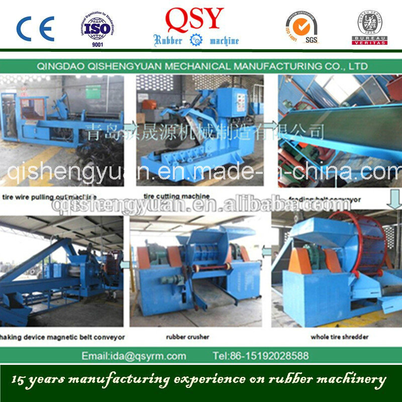 Automatic Tire Shredder Machine to Grinder Waste Tires