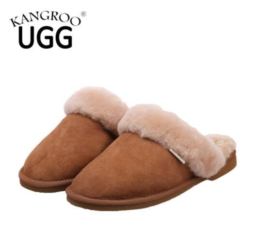 Classic Real Australian Sheepskin Scuff Indoor Slippers Home Shoes