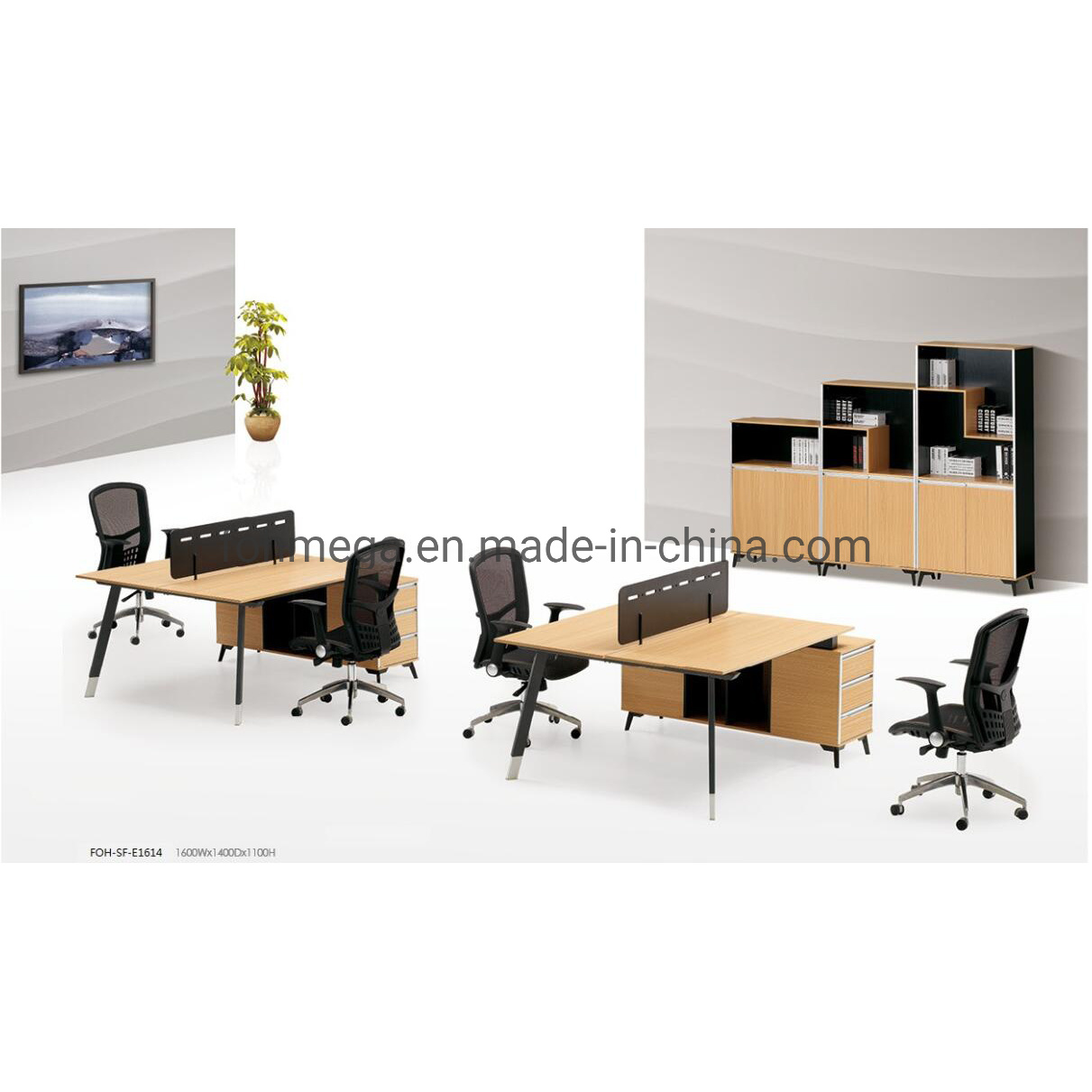 China Space Saving 2 Seat Office Furniture Work Station Call