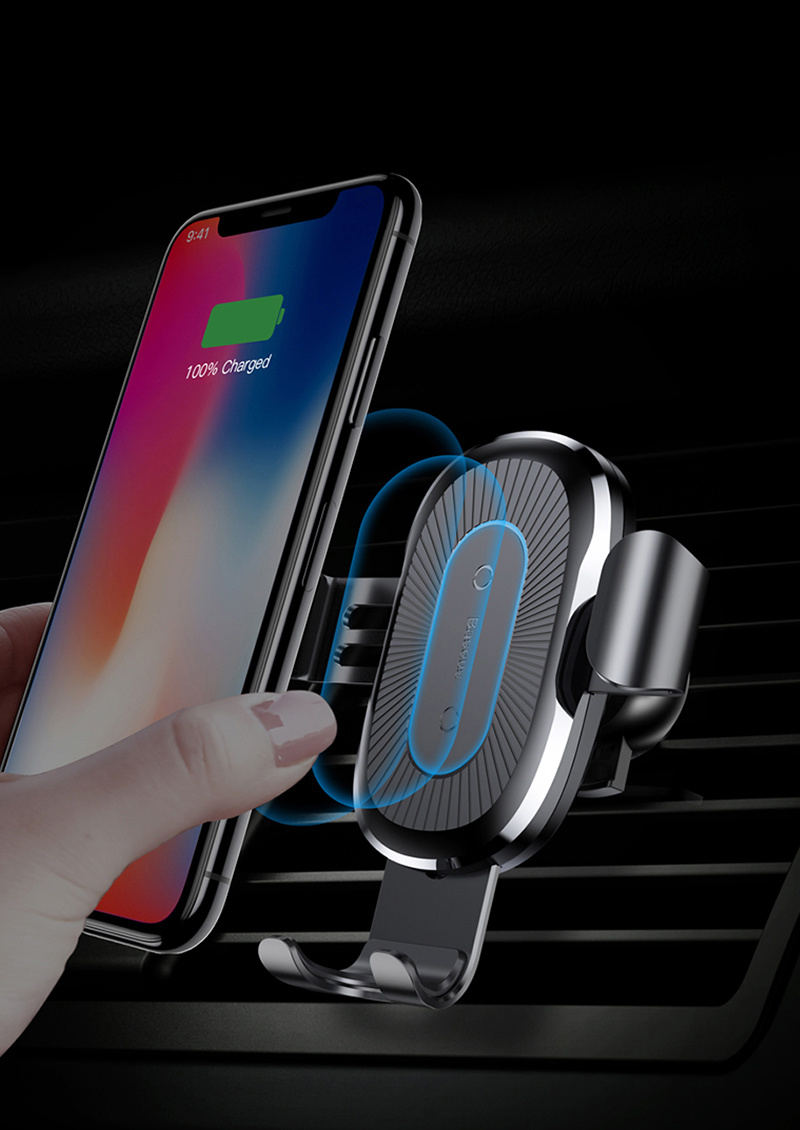quality design 4bf3e a8d7b [Hot Item] Car Mount Qi Wireless Charger for iPhone X 8 Plus Quick Charge  Fast Wireless Charging Car Holder Stand for Samsung S9 S8