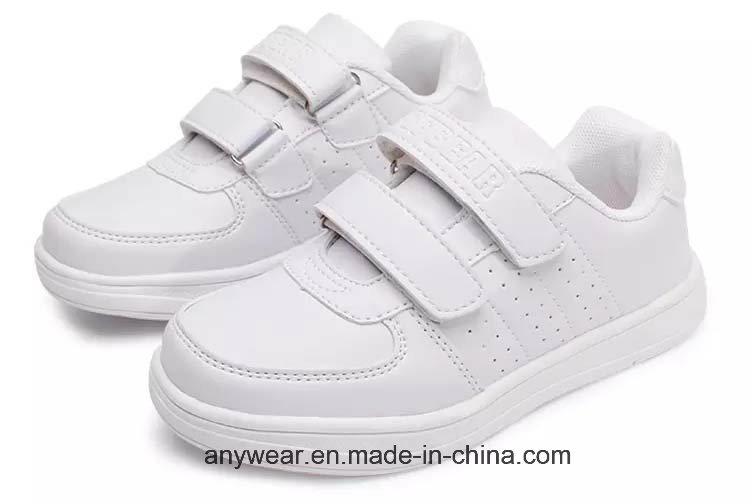 de1f556bf9a75 China Children Sports Running Sneaker Kids White School Shoes (513) - China  Shoes