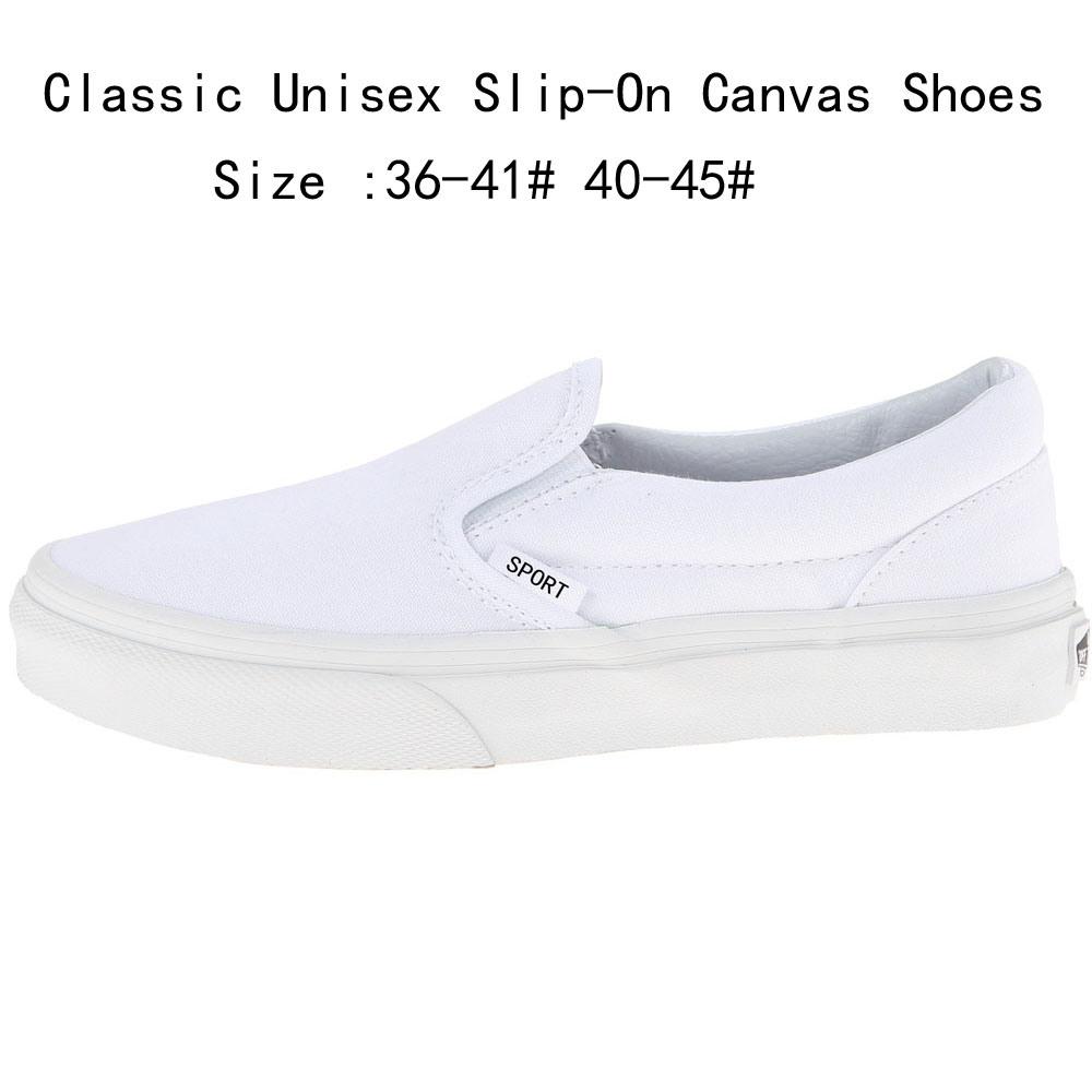 China Classic Unisex White Slip-on